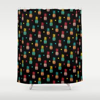 pineapples Shower Curtains featuring Pineapples! by Rendra Sy