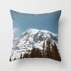 Retro Rainier Throw Pillow