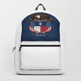 Texas flag and eagle crest - original vintage concept Backpack