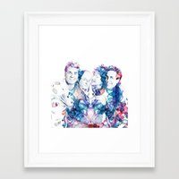 seinfeld Framed Art Prints featuring Seinfeld by NKlein Design