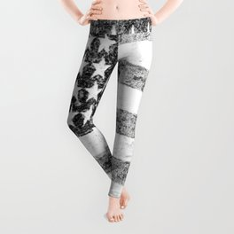 Grunge American Flag Leggings