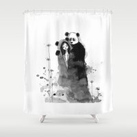 lonely Shower Curtains featuring Lonely, Lonely... by June Leeloo