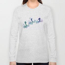 jumping skier Long Sleeve T-shirt