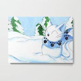 Snowcat Metal Print