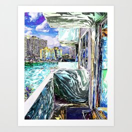 Balcony With A View Art Print
