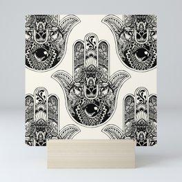 Hamsa Hand Schnauzer Mini Art Print