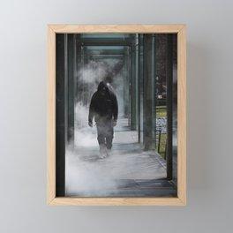 Man In The Mist Framed Mini Art Print