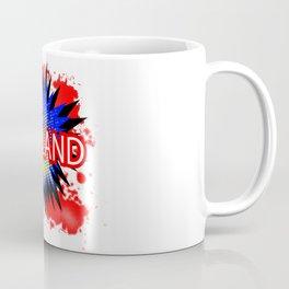 England Red White And Blue Cartoon Exclamation Coffee Mug