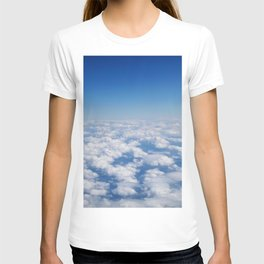 Blue Sky White Clouds Color Photography T-shirt