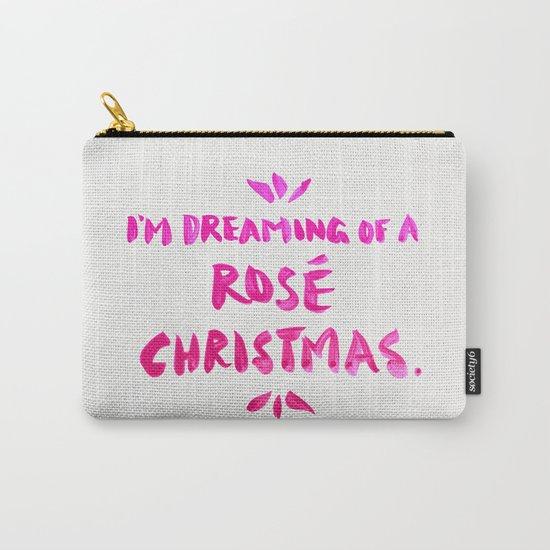 Rosé Christmas Carry-All Pouch