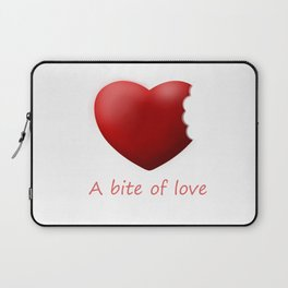 A bite of love (nibbled heart 2) with words Laptop Sleeve