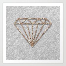 Glitter Diamond Art Print