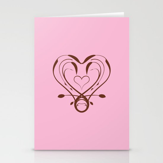 Imperial Heart Stationery Cards