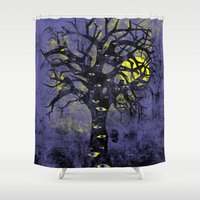 lsd Shower Curtains featuring the Vison Tree by Jonah Makes Artstuff