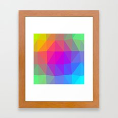 Rainbow Triangle Abstract Framed Art Print