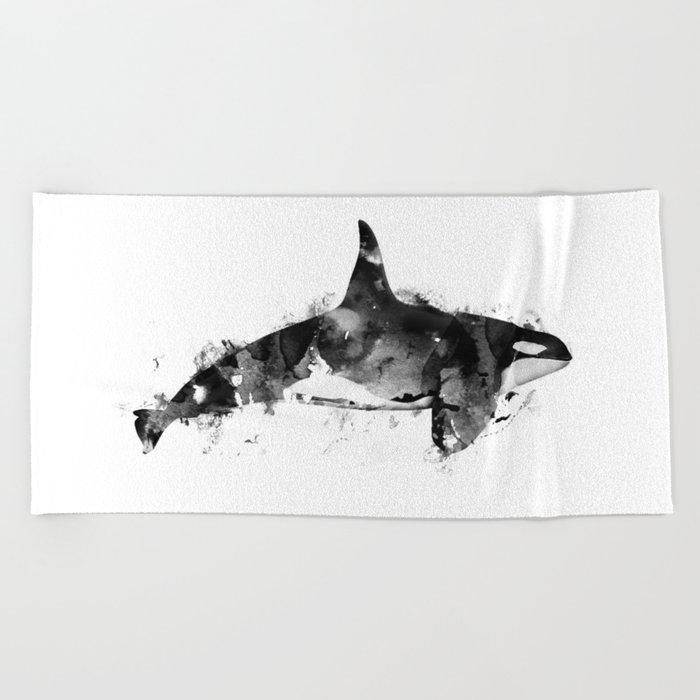 Killer Whale Beach Towel