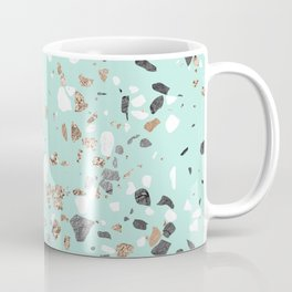 Glitter and Grit Marble Mint Green Coffee Mug