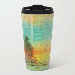 Serenity Prayer Colorful Trees Travel Mug