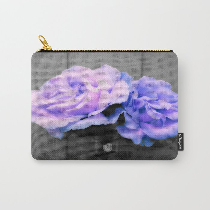 Flowers Lavender Periwinkle Pop of Color Carry-All Pouch