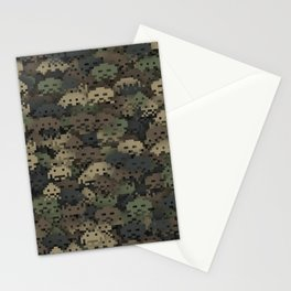 Invaders camouflage Stationery Cards