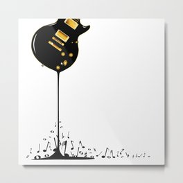 Flowing Music Metal Print