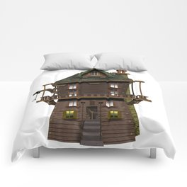 The Wood Cutter's House Comforters