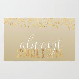 Gold Confetti Ombre Sparkle Rug