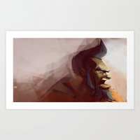 borderlands Art Prints featuring Borderlands - Salvador by BEN Olive