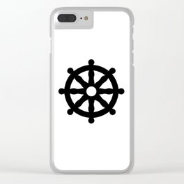 Dharmachakra 1 Clear iPhone Case