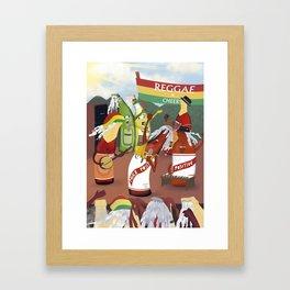 rasta & cheers Framed Art Print