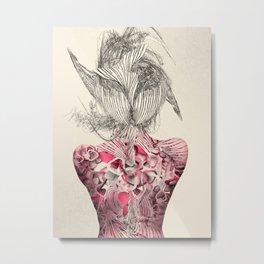 Worming Portrait Metal Print
