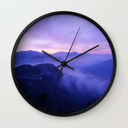 Mountain Road California Wall Clock