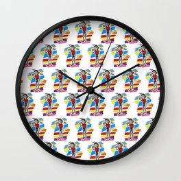 80s Vampire Wall Clock