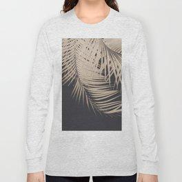 Palm Leaves Sepia Vibes #1 #tropical #decor #art #society6 Long Sleeve T-shirt