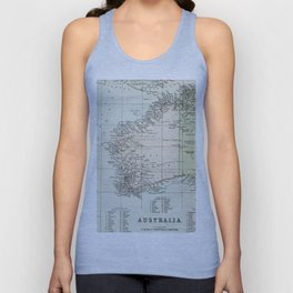 Vintage Map of the West Of Australia Unisex Tank Top