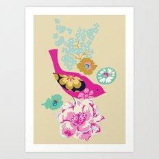 Birds and Blooms 1 Art Print