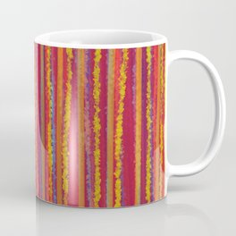 Stripes  - Cheerful yellow orange red and blue Coffee Mug