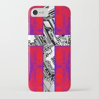 denmark iPhone & iPod Cases featuring circuit board Flag (Denmark) by seb mcnulty