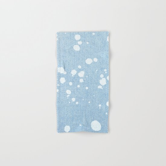 Stained jeans texture Hand & Bath Towel