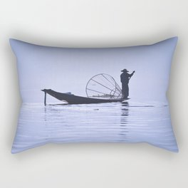 FISHERMAN AT INLE LAKE II Rectangular Pillow