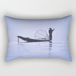 FISHERMAN AT INLE LAKE II Rectangular Pillow