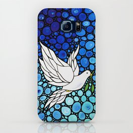 Peaceful Journey - Vibrant white dove by Labor Of Love artist Sharon Cummings. iPhone Case