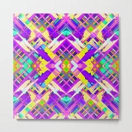 Colorful digital art splashing G482 Metal Print