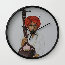 indian boy Wall Clock
