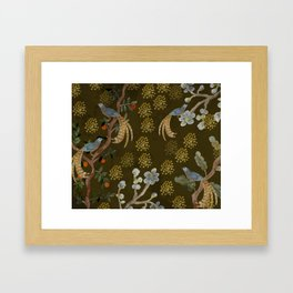 Golden Chinese Forest - Chinese Art Framed Art Print