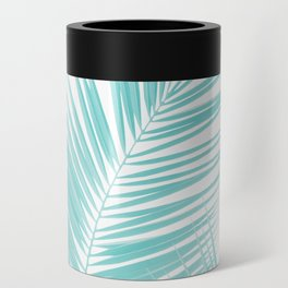 Soft Turquoise Palm Leaves Dream - Cali Summer Vibes #1 #tropical #decor #art #society6 Can Cooler