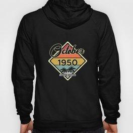 Vintage 70th Birthday October 1950 Sports Gift Hoody