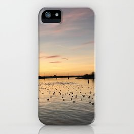 Sunset Limerick city docks iPhone Case