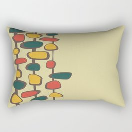 Mid Century Modern Baubles (gold) Rectangular Pillow