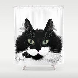 Tuxedo Cat - Full Face Shower Curtain